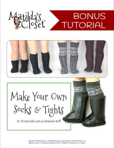 Make your own doll socks and tights from regular socks