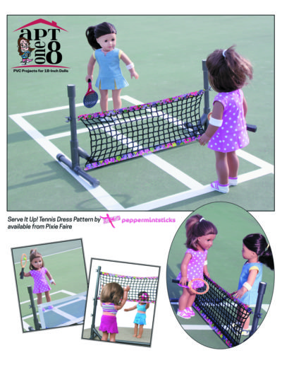 PVC Volleyball and Tennis Net Plans for 18-inch dolls such as American Girl™