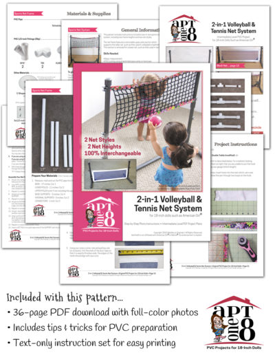 PVC Sports Net Plans for 18-inch dolls such as American Girl™