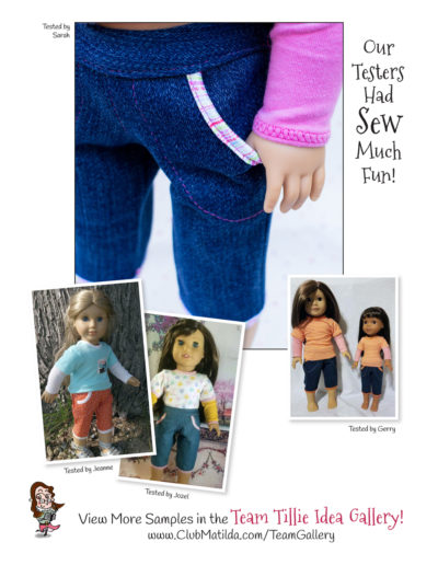 Cutie Patootie Capris sewing pattern for 18-inch dolls such as American Girl™