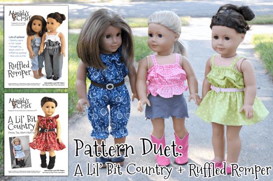 Pattern Duet: A Lil' Bit Country + Ruffled Romper