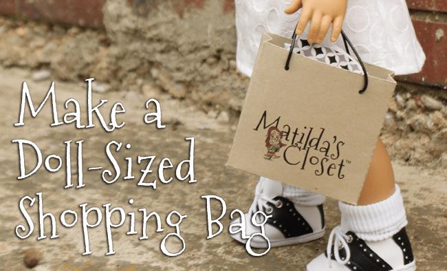Make a Doll-Sized Shopping Bag