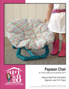 Papasan Chair PVC Project Pattern for 18-inch dolls such as American Girl™