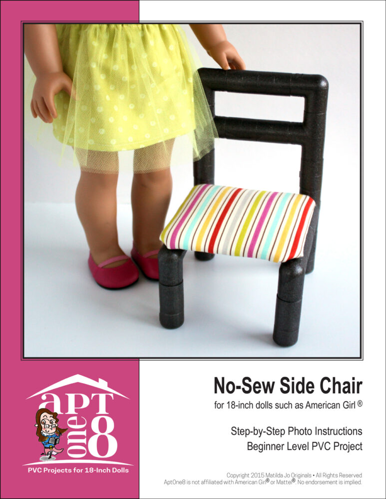 No-Sew Side Chair PVC pattern for 18-inch dolls such as American Girl™