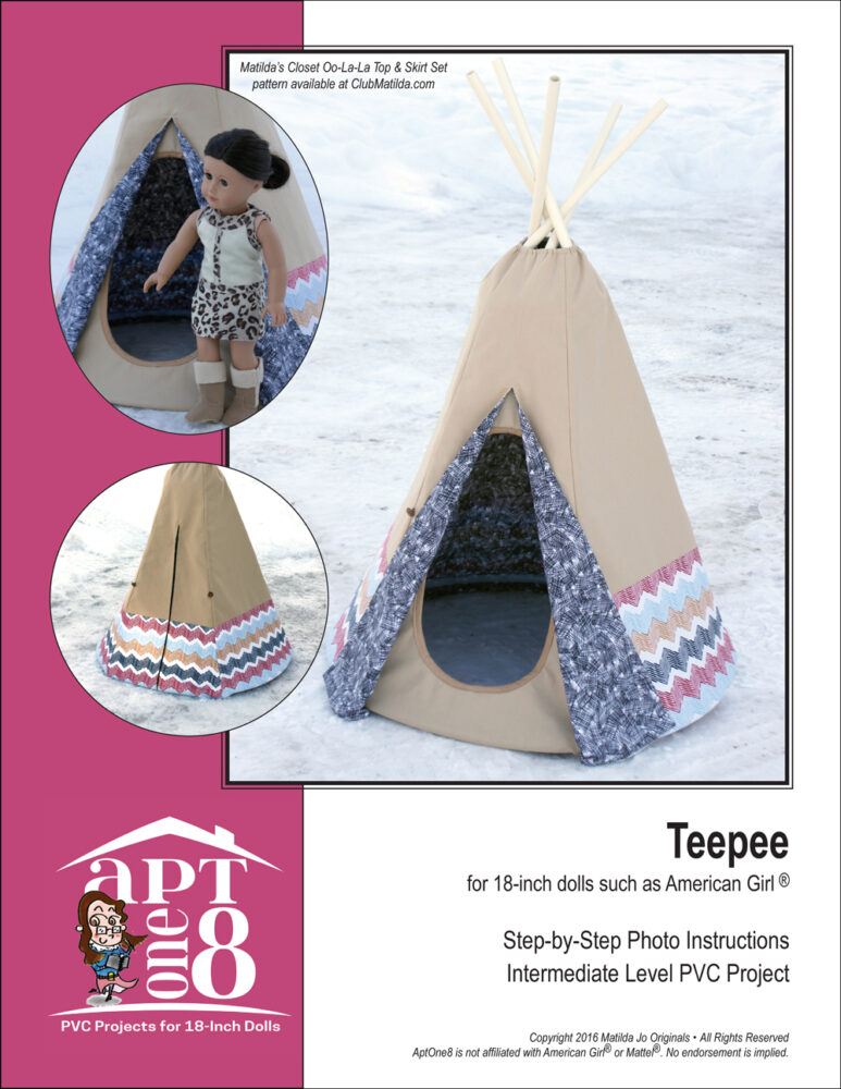 Teepee pattern for 18-inch dolls
