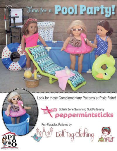 Pool Party Collection: Lifeguard Chair PVC pattern for 18-inch dolls such as American Girl™