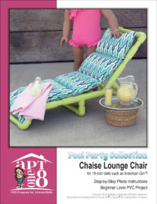 Pool Party Collection: Chaise Lounge Chair PVC pattern for 18-inch dolls such as American Girl™