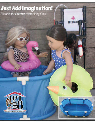 Swimming Pool PVC pattern for 18-inch dolls such as American Girl™