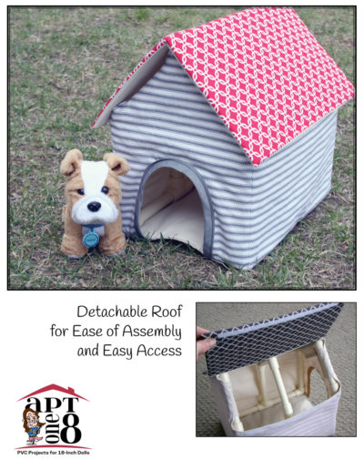 """""""Ruff"""" Life Doghouse pattern for 18-inch dolls such as American Girl™"""
