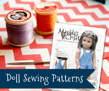 Sewing Patterns for 18-inch Dolls such as American Girl™