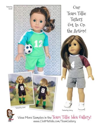 Atta Girl Soccer Uniform sewing pattern for 18-inch dolls such as American Girl™
