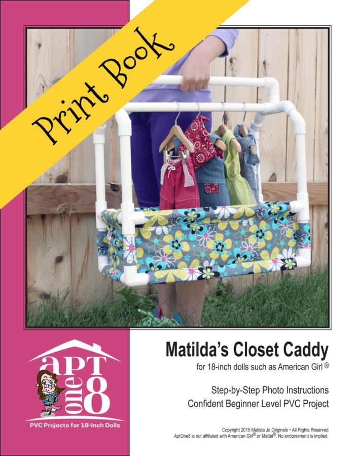 Matilda's Closet Caddy PVC Sewing Pattern for 18-inch dolls
