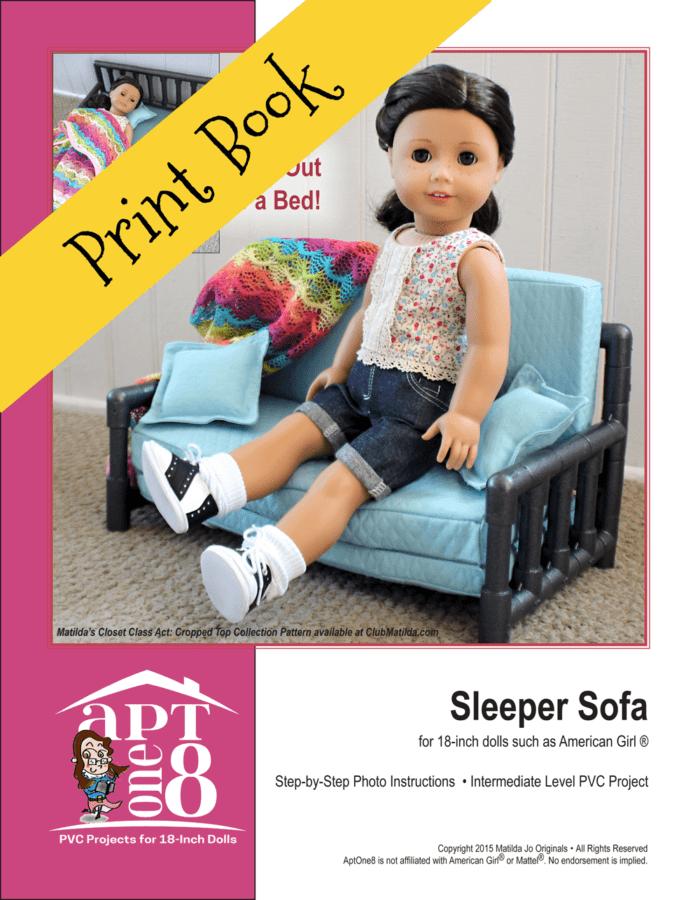 Sleeper Sofa PVC Sewing Pattern for 18-inch dolls