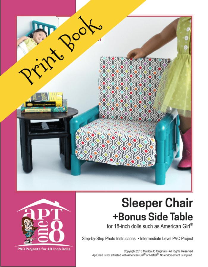 Sleeper Chair + Bonus Side Table PVC Sewing Pattern for 18-inch dolls