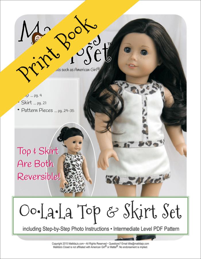 Oo-La-La Top & Skirt Set Sewing Pattern for 18-inch dolls