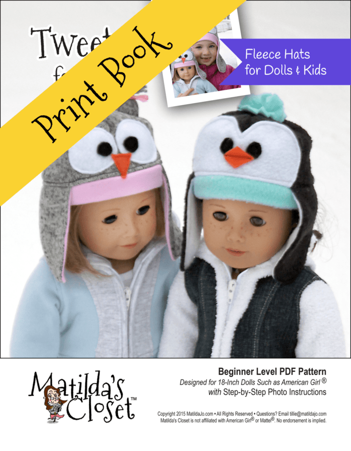 Tweets for Two Sewing Pattern for 18-inch dolls and Kids