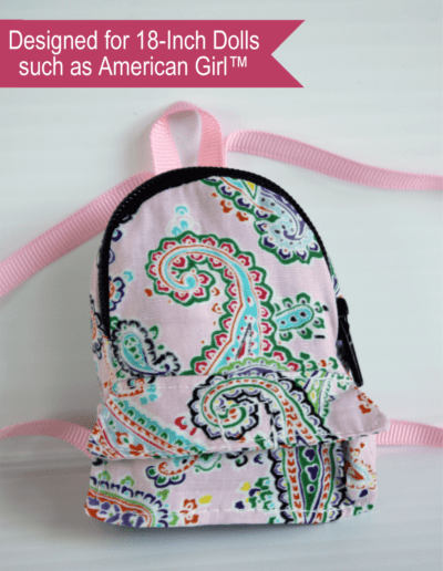 Paisley Mini Doll Backpack for 18-inch dolls
