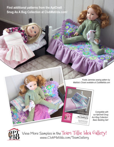 Snug As A Bug Collection: Ruffled Bedspread & Pillow Sham Pattern for 14- to 15-inch Dolls Such as WellieWishers™