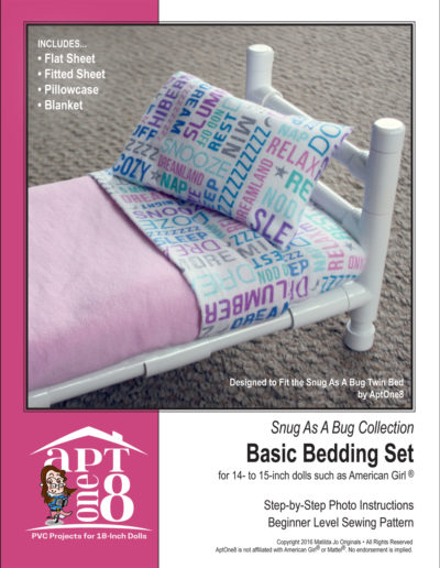 Snug As A Bug Collection: Basic Bedding Set Pattern for 14- to 15-inch Dolls Such as WellieWishers™