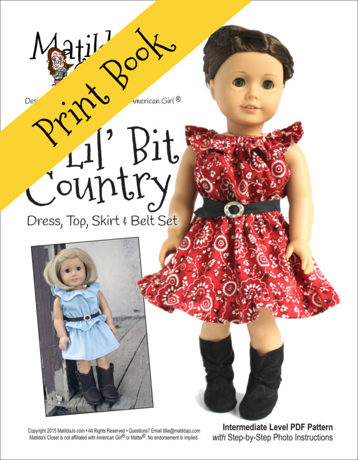A Lil' Bit Country sewing pattern for 18-inch dolls such as American Girl™