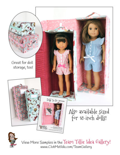 Fold 'n Go Doll Carrier sewing pattern for 14.50 inch dolls