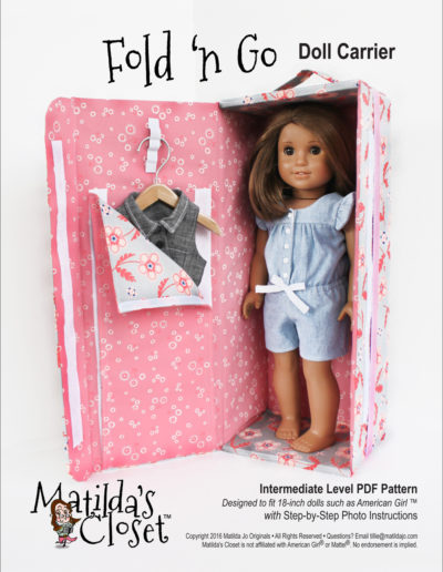 Fold 'n Go Doll Carrier sewing pattern for 18-inch dolls