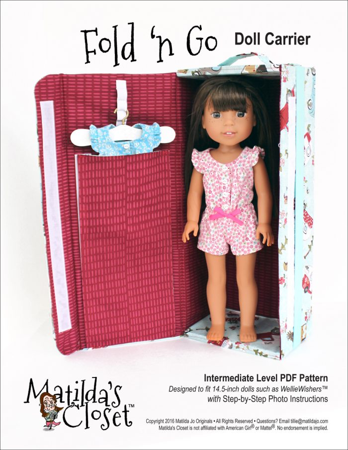 Fold 'n Go Doll Carrier sewing pattern for dolls