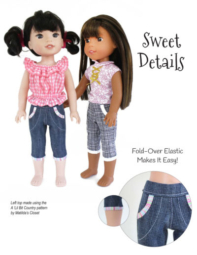 Cutie Patootie Capris sewing pattern for 14.5-inch dolls such as WellieWishers™