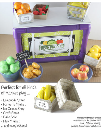 Market Stand PVC project pattern for 14-inch to 18-inch dolls
