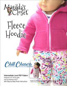 Fleece Hoodie doll sewing pattern for 18-inch dolls such as American Girl™