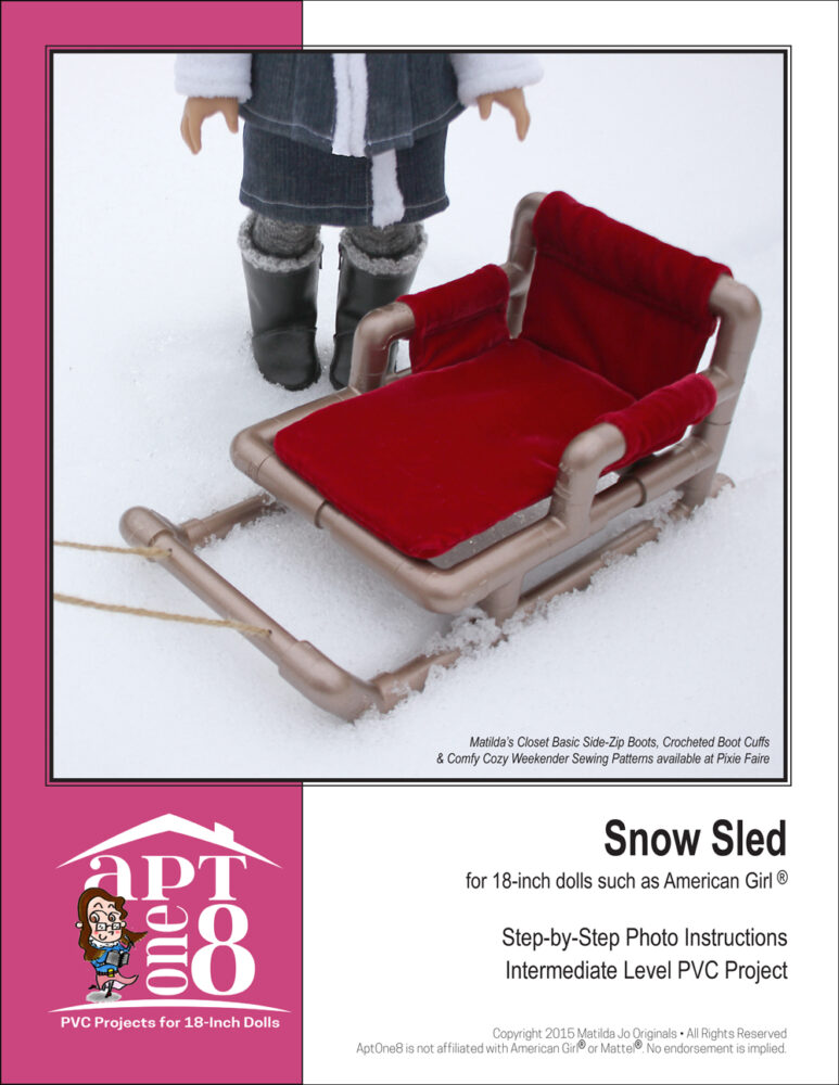 CPVC Snow Sled pattern for 18-inch dolls
