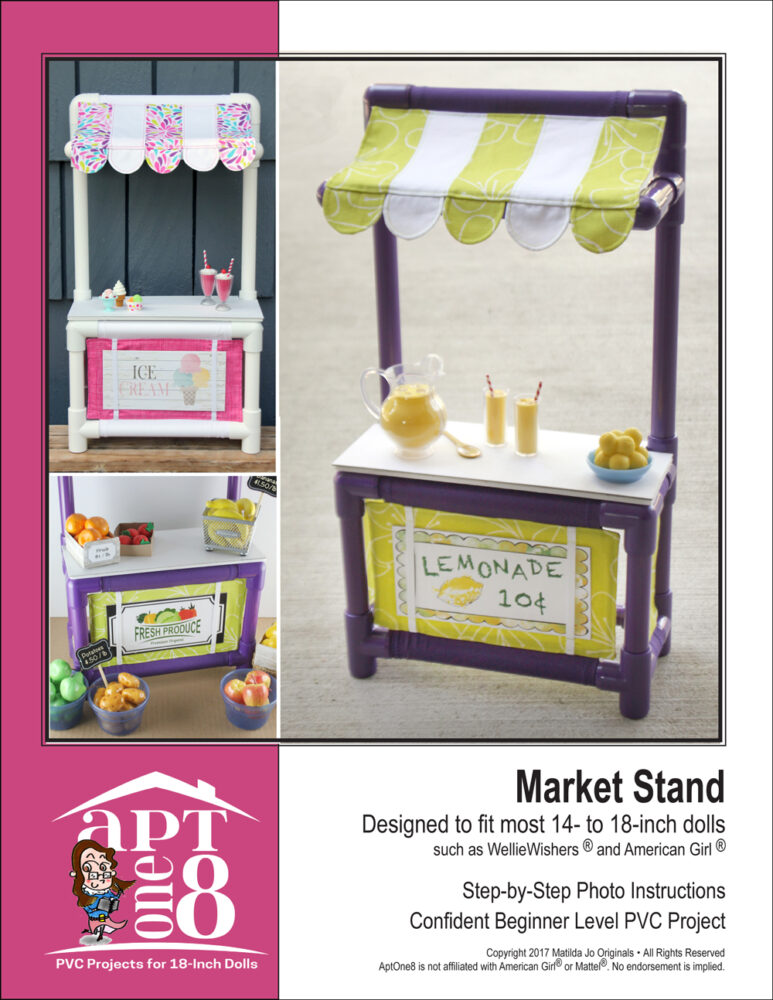CPVC Market Stand project pattern for 18-inch dolls