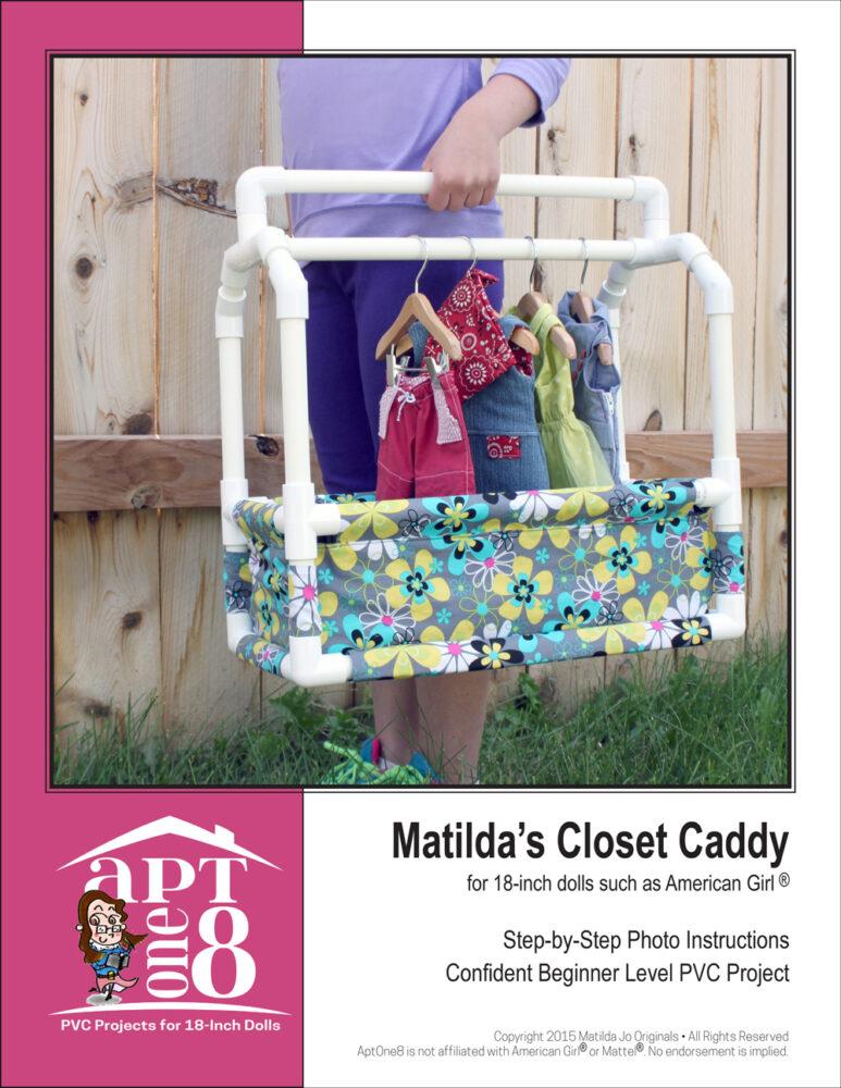 PVC closet caddy pattern for 18-inch dolls