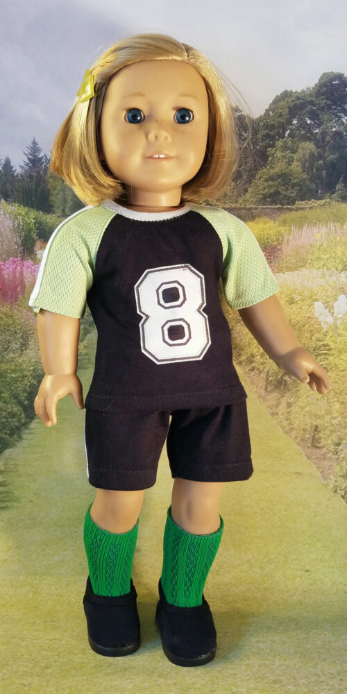 Atta Girl Soccer Uniform pattern tested by Jozel Watson