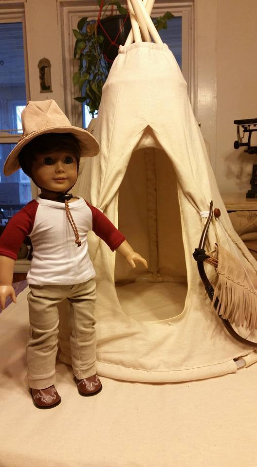 Doll Teepee pattern tested by Gerry Thompson