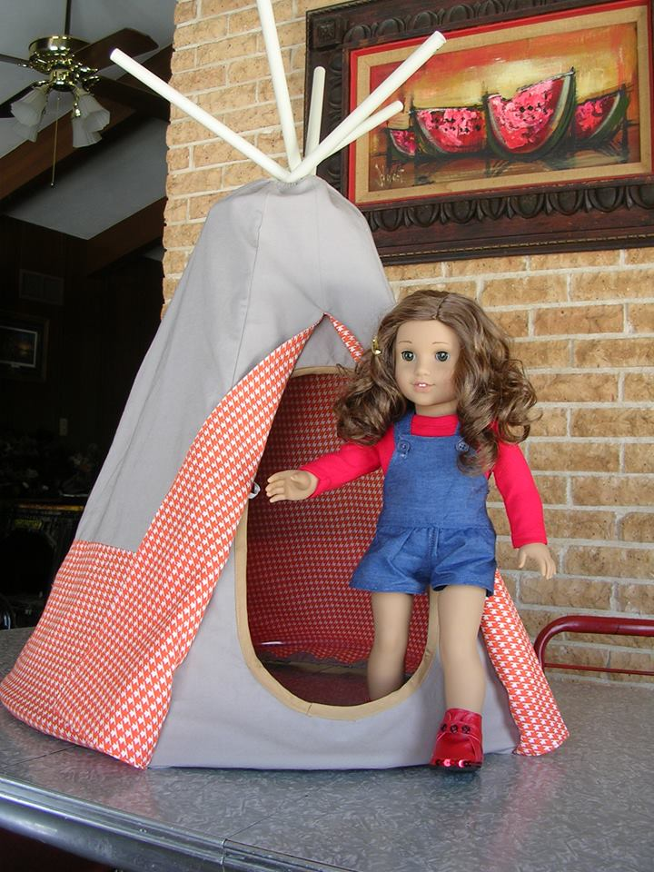 Doll Teepee pattern tested by Lesley Trantham