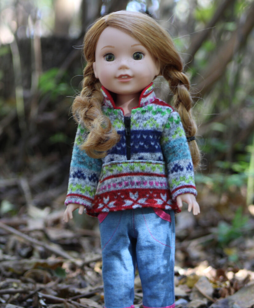 Half-Zip Pullover pattern tested by Pam Ray