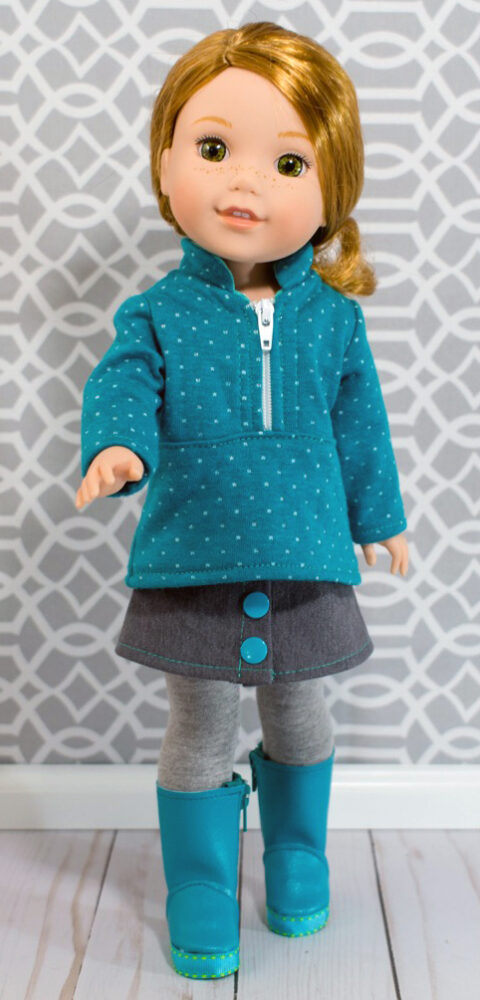 Half-Zip Pullover pattern tested by Sarah Reilly