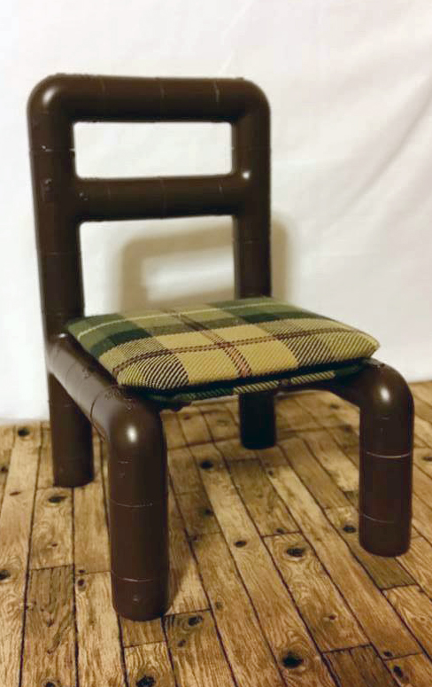 No-Sew Side Chair doll furniture pattern tested by Gerry Thompson