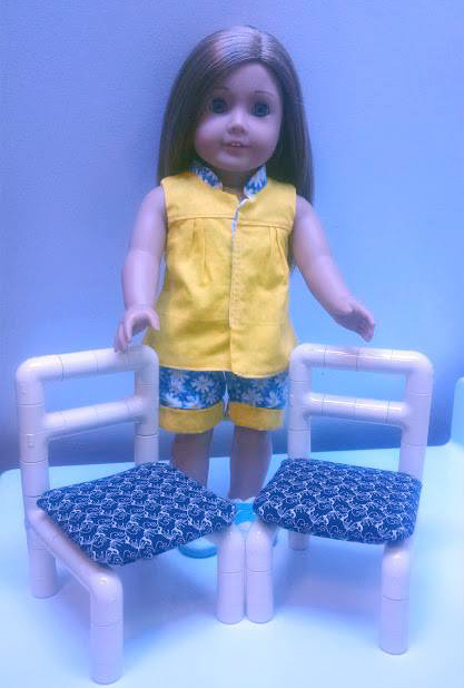 No-Sew Side Chair doll furniture pattern tested by Jeanne Marshall