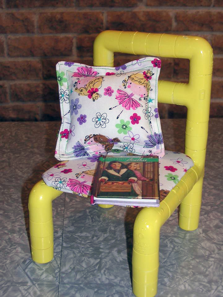 No-Sew Side Chair doll furniture pattern tested by Lesley Trantham